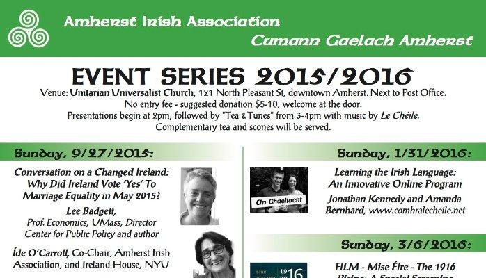 Mórtas Cine/ Pride in Heritage – Amherst Irish Association Event Series 2015/2016
